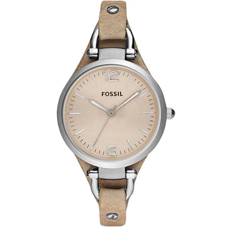 FOSSIL 俏皮女孩時尚腕錶-卡其 ES2830