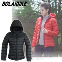 【波萊迪克bolaidike】女新款 立體輕量防潑水透氣保暖羽絨外套(帽可拆)/TF050 深炭灰