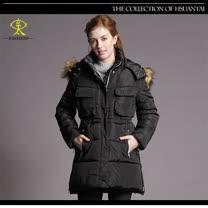 玄太-保暖簡約抽繩修身鋪棉防風大衣外套(黑)