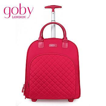 goby果比18寸兩輪多功能手提小拉桿箱(萬向輪女性登機行李箱)-石榴紅