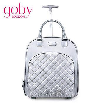 goby果比18吋兩輪多功能手提小拉桿箱(萬向輪女性登機行李箱)-珍珠銀