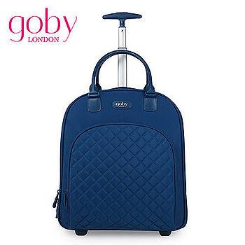 goby果比18吋兩輪多功能手提小拉桿箱(萬向輪女性登機行李箱)-藍苺藍