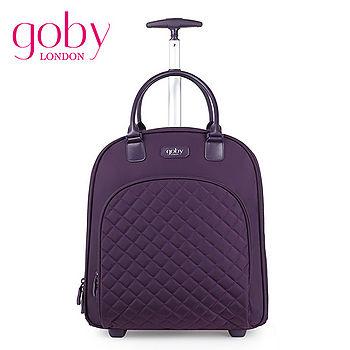 goby果比18吋兩輪多功能手提小拉桿箱(萬向輪女性登機行李箱)-紫羅蘭