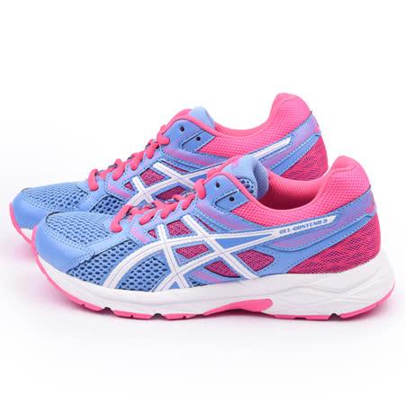 Asics 女款 GEL-CONTEND 2 輕量慢跑鞋T5F9N-4701-藍粉