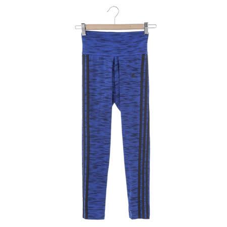 adidas (女)緊身長褲-藍-AB6516