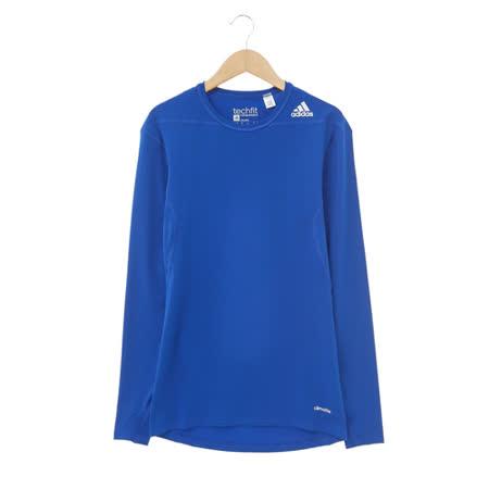 adidas (女)緊身衣(長)-藍-D82062