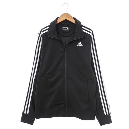adidas (男)棉質-運動外套-黑-S88116