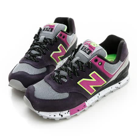 New Balance (女)經典復古鞋-黑灰-WL574OPP