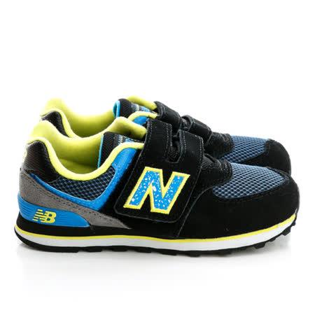 New Balance (童)慢跑鞋-黑-KV574O3Y