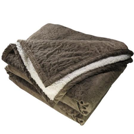 【鴻宇HongYew】頂級羊羔絨雕花保暖毯