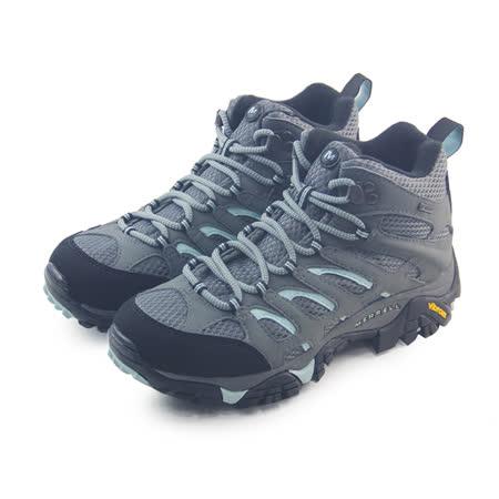 (女)MERRELL MOAB MID GORE-TEX 戶外鞋 灰/淺藍-ML32670