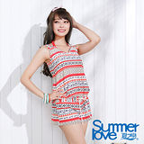【SUMMERLOVE夏之戀】民俗風連身褲三件式泳衣-(E15721)