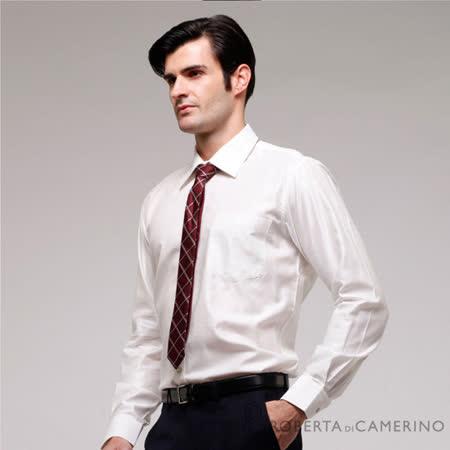 ROBERTA諾貝達 進口素材 台灣製 商務必備 條紋長袖襯衫 RFB15D-91白色