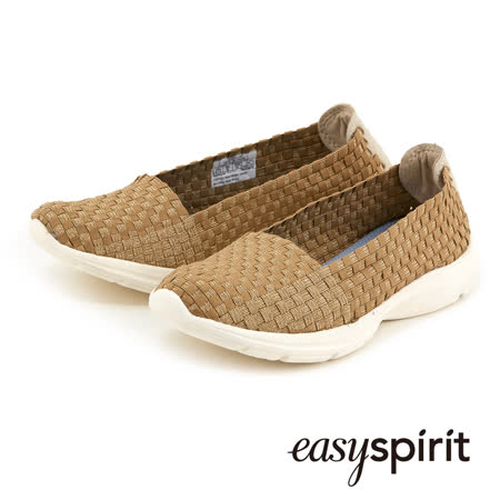 Easy Spirit 舒活輕巧實搭編織鞋面走路休閒鞋--亮眼金