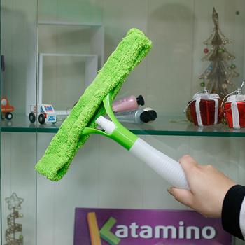 掃除神器-玻璃刮刀清潔乾濕兩用擦窗器(含布)