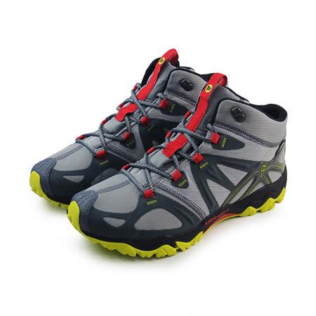 (男)MERRELL GRASSBOW MID SPORT GORE-TEX 戶外鞋 灰/黃-ML32403