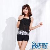 夏之戀SUMMERLOVE】時尚典雅長版三件式泳衣(E15737)