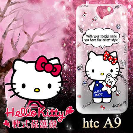 三麗鷗授權正版 Hello Kitty 凱蒂貓 HTC ONE A9 透明軟式保護套 手機殼 (Kitty公仔)