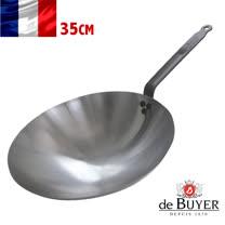 法國【de Buyer】畢耶鍋具『原礦蜂蠟系列』亞洲中華鐵炒鍋35.5cm