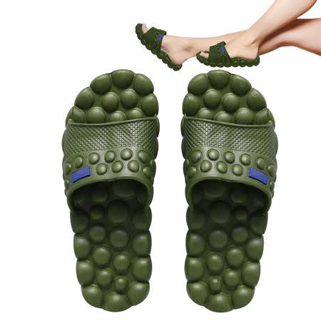 【活力小舖】腳底按摩室內外拖鞋-環保綠XL