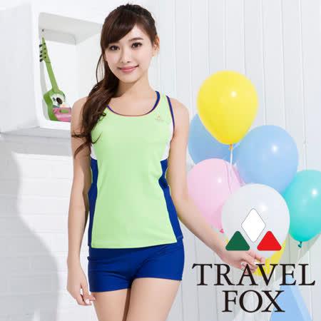 夏之戀TRAVEL FOX】高注目長版兩件式泳衣(C15715)