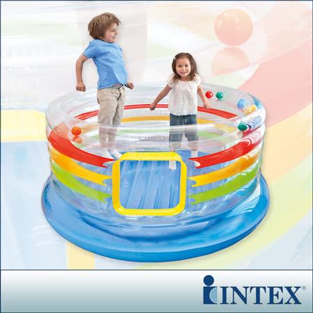 【INTEX】充氣式兒童跳跳床-多彩圓型-寬182cm