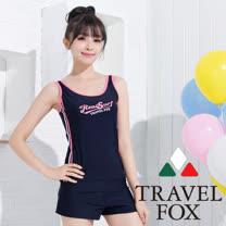 【夏之戀TRAVEL FOX】顯瘦款長版三件式泳衣-加大碼(C15716)