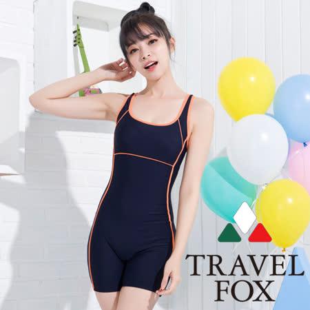 【夏之戀TRAVEL FOX】運動款連身四角泳裝(C15720)