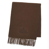Vivienne Westwood ORB行星刺繡羊毛圍巾-咖啡色