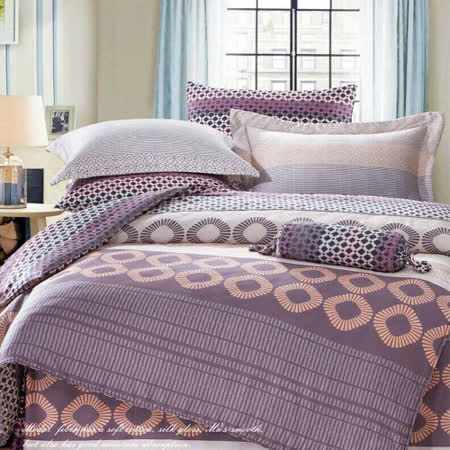SHINEE 天然木漿纖維《英倫情人》雙人100%天絲四件式兩用被床包組