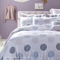 SHINEE 天然木漿纖維《俏皮波點》加大雙人100%天絲四件式兩用被床包組