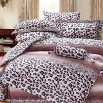 SHINEE 天然木漿纖維《爵士洛可》加大雙人100%天絲四件式兩用被床包組