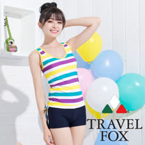 【夏之戀TRAVEL FOX】活力長版兩件式泳衣(C15722)