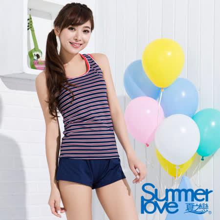【夏之戀TRAVEL FOX】海軍風長版三件式泳衣(C15702)