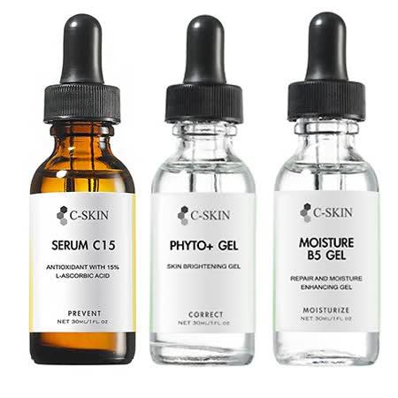 杜克 C 色修淡斑組 (精華液15% Serum C15 30ml+色素修復加強劑 30ml+保濕B5凝膠 30ml)