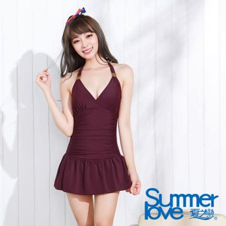【夏之戀SUMMER LOVE】氣質佳人連身帶裙泳裝(E15706)