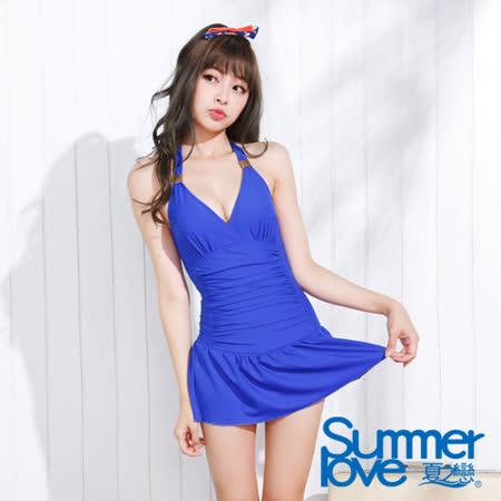 【夏之戀SUMMER LOVE】亮麗佳人連身帶裙泳裝(E15707)