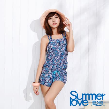 【SUMMERLOVE夏之戀】祕密花園連身褲三件式泳衣(E15710)