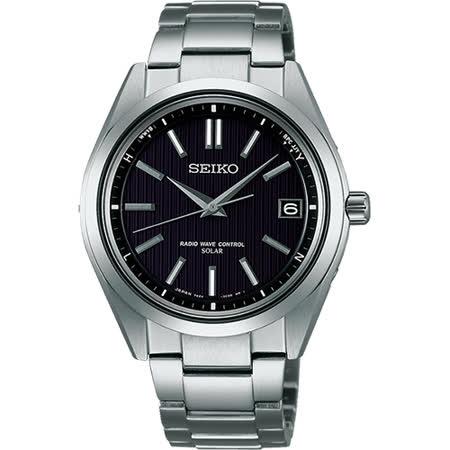 SEIKO Brightz 鈦金屬太陽能電波腕錶-黑/39mm 7B24-0BH0D(SAGZ083J)