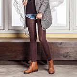 《MORINO摩力諾》美型條紋厚質感保暖褲 【買一送一】