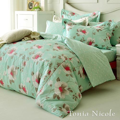 Tonia Nicole東妮寢飾 綠意莊園100^%精梳棉兩用被床包組 ~特大