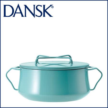 【DANSK】 琺瑯材質雙耳鍋-(粉藍色)-18cm
