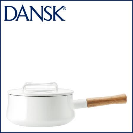 【DANSK】 琺瑯材質片手鍋-(白色)-18cm