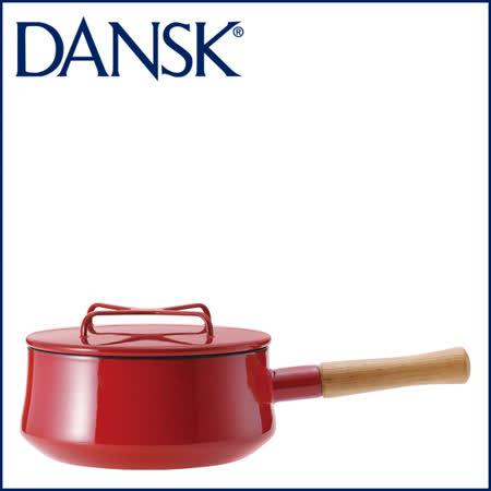 【DANSK】 琺瑯材質片手鍋-(紅色)-18cm