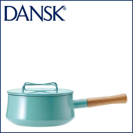 【DANSK】 琺瑯材質片手鍋-(粉藍色)-18cm