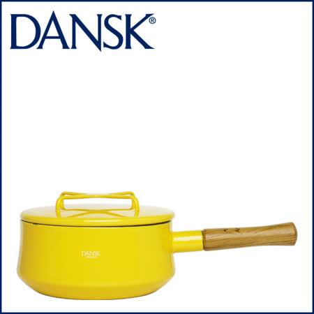 【DANSK】 琺瑯材質片手鍋-(黃色)-18cm