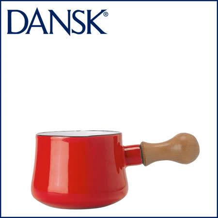 【DANSK】 琺瑯材質牛奶鍋-(紅色)-550ml