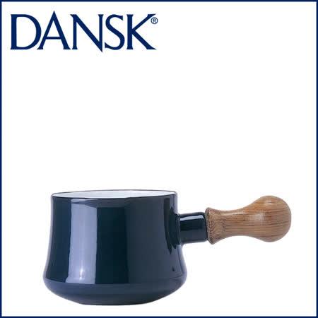 【DANSK】 琺瑯材質牛奶鍋-(深藍色)-550ml