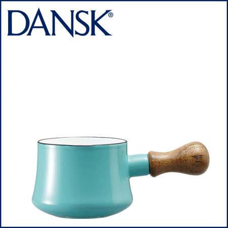 【DANSK】 琺瑯材質牛奶鍋-(粉藍色)-550ml