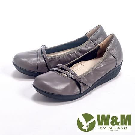 W&M (女)上班兼休閒假綁帶直套增高娃娃鞋女鞋-灰